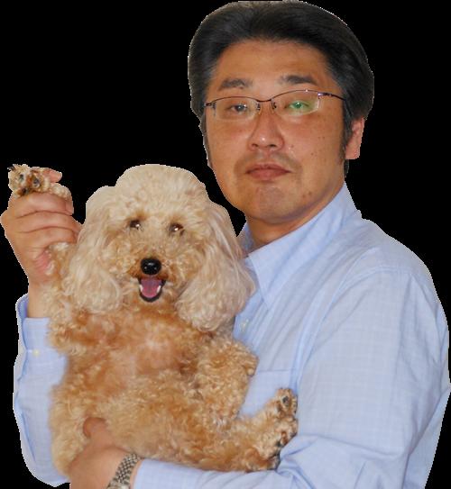 愛犬との写真